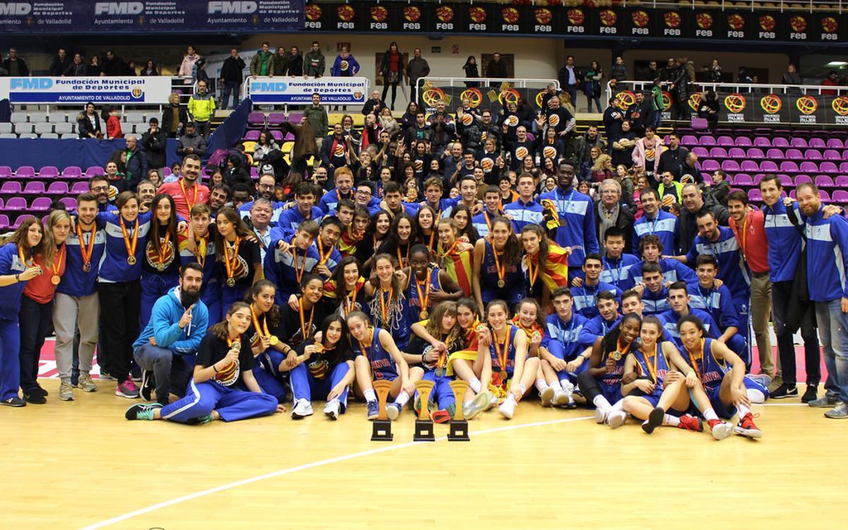 Seis jugadoras del Barça femenino, campeonas de España con la selección catalana de baloncesto