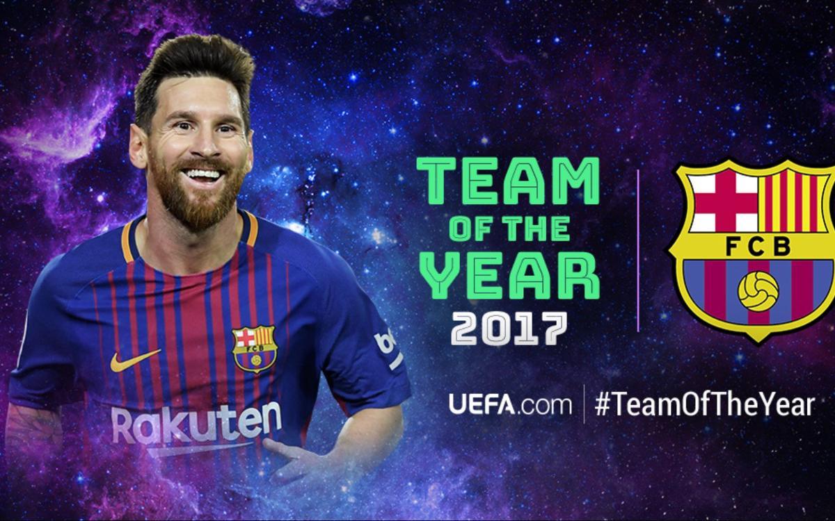 レオ・メッシ、 UEFAのベストイヤーイレブンに選出!