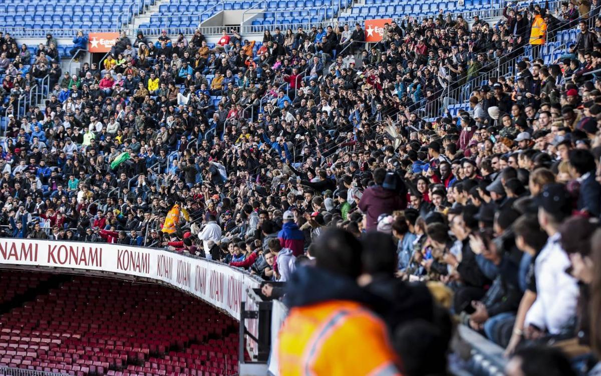 Vine a passar el dissabte al Camp Nou!
