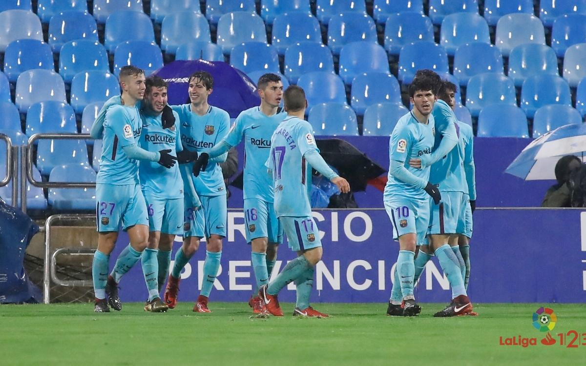 Real Zaragoza – Barça B: Draw in the rain to start the year (1-1)