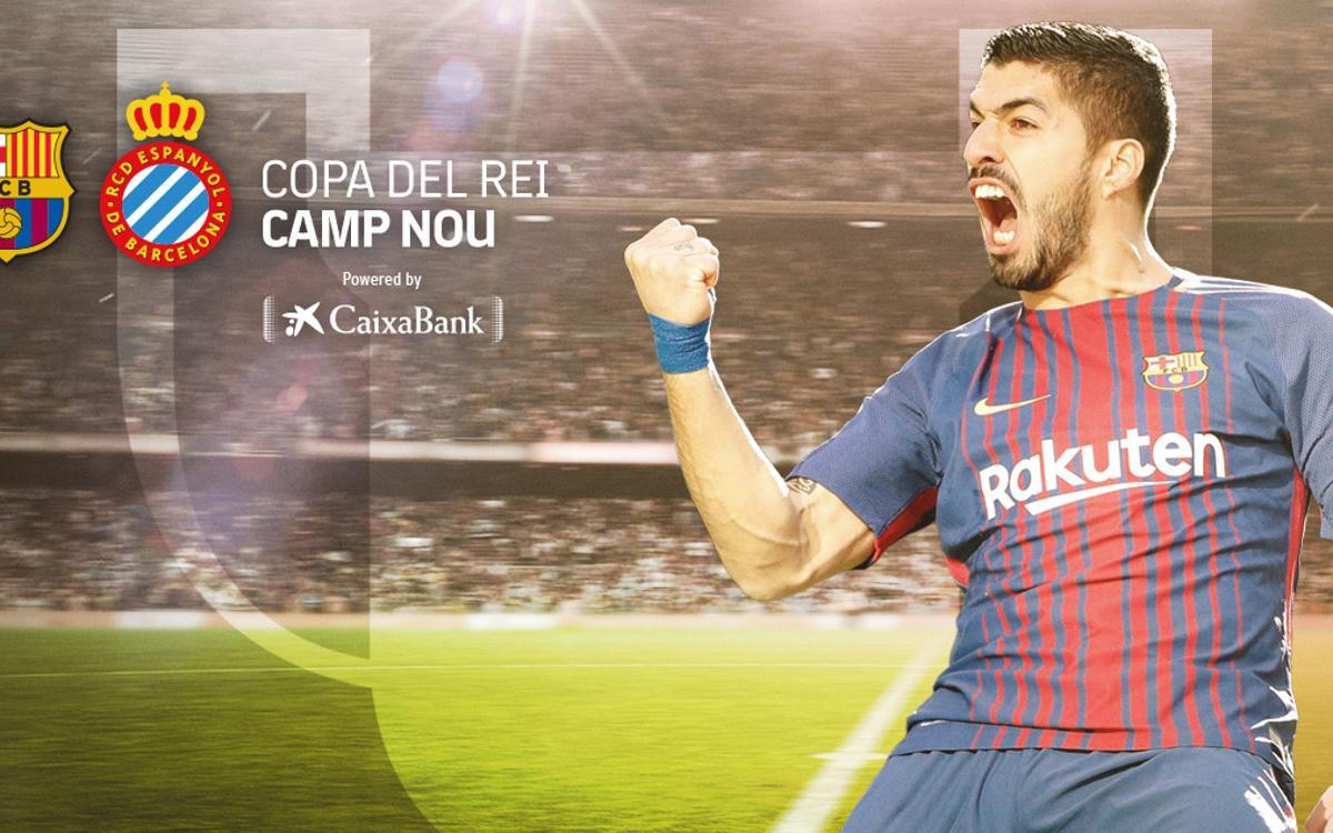 Ampliació horari de metro pel partit de Copa del Rei FC Barcelona-RCD Espanyol