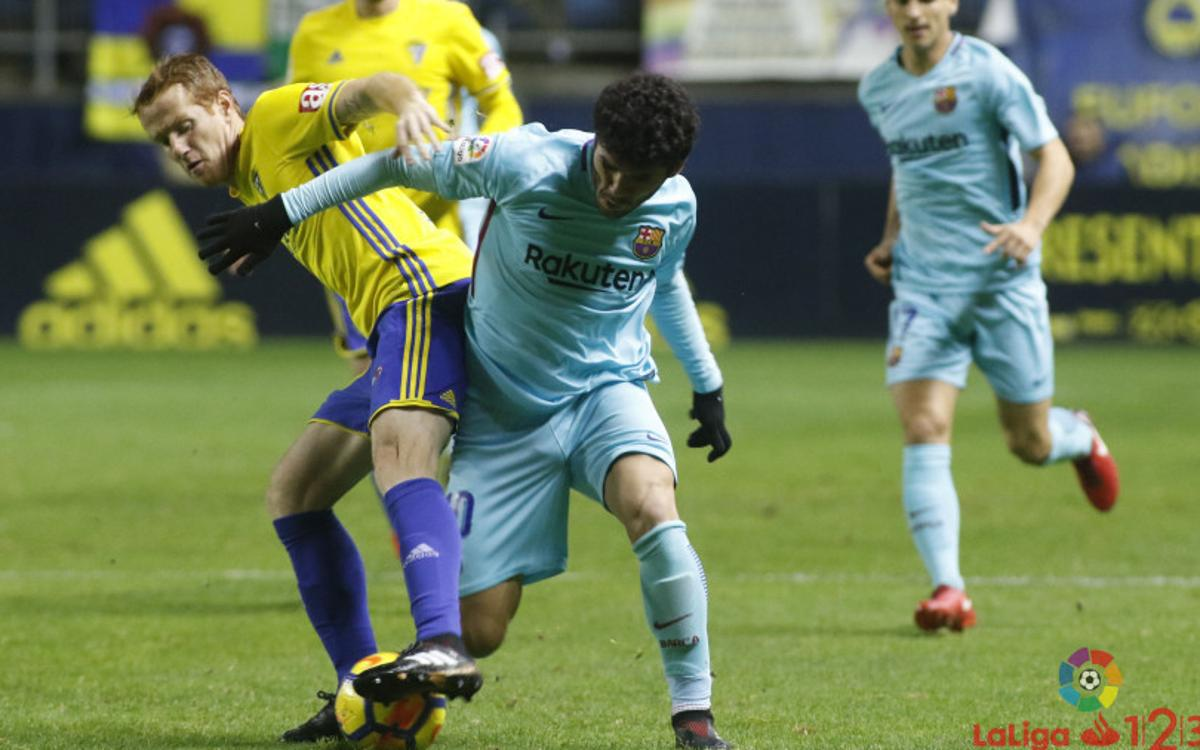 Cádiz - FC Barcelona B: La efectividad gaditana decanta un duelo igualado (3-1)