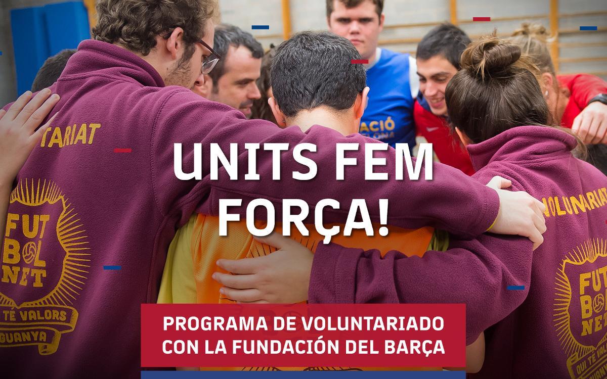 Programa de voluntariado para colaborar con los proyectos de la Fundación Barça