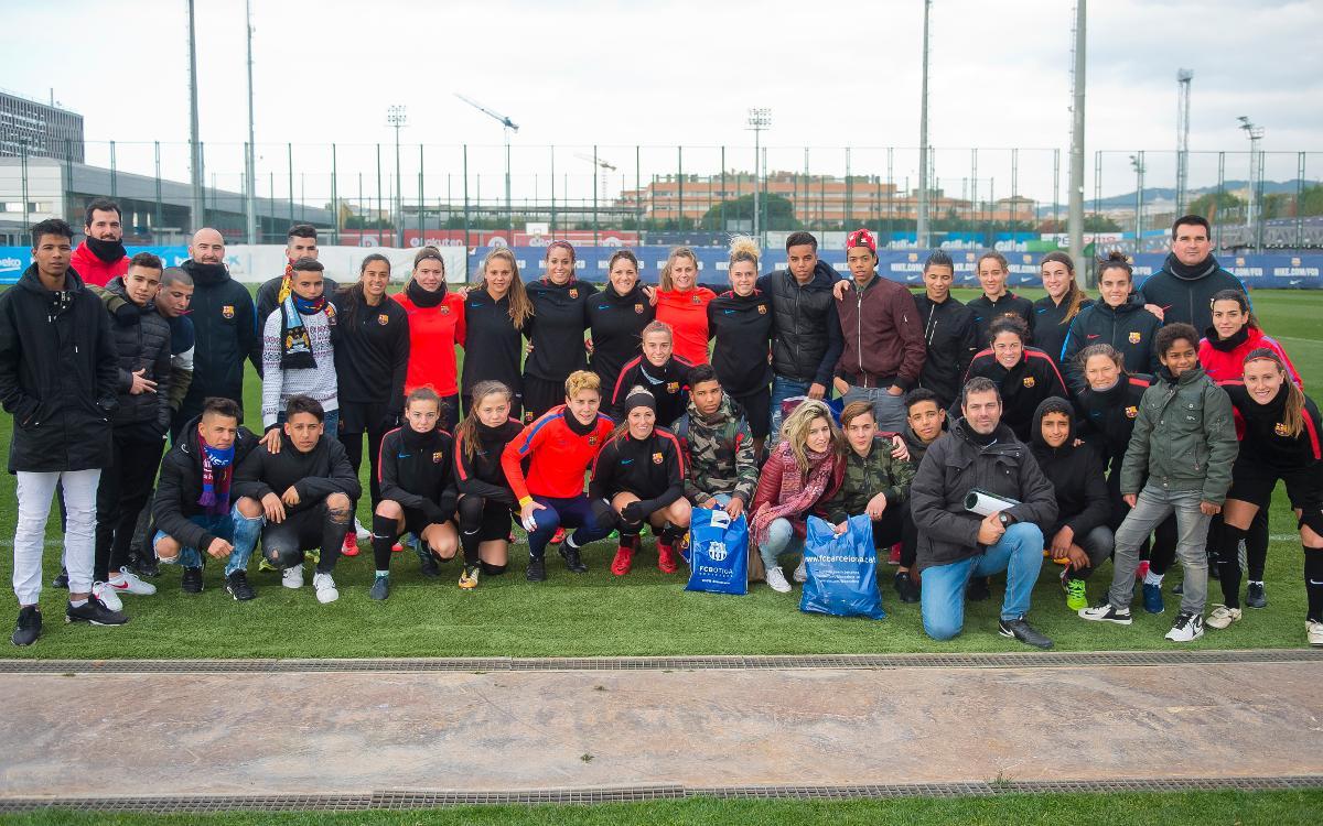 El gest solidari del Barça Femení