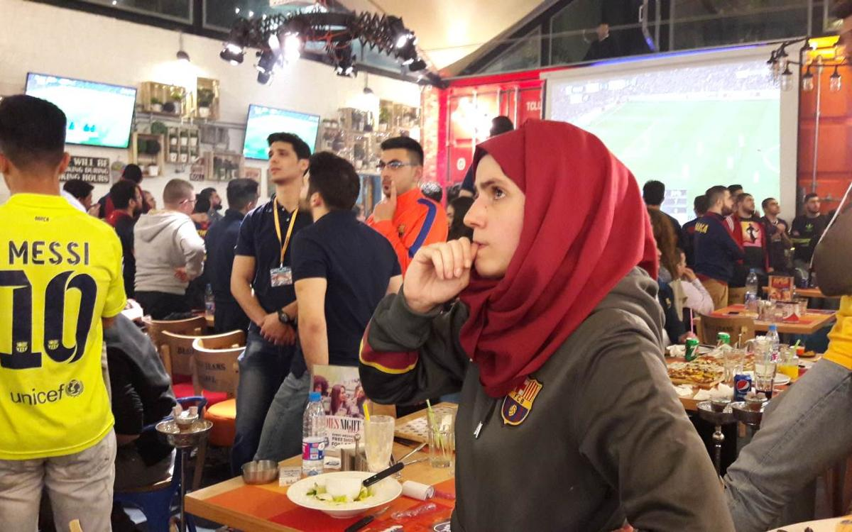 Beirut vibra con la victoria del Barça en el Bernabéu