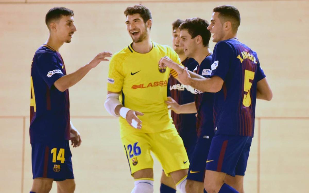 Prone Lugo - Barça Lassa B (1-5): Triunfo para seguir arriba