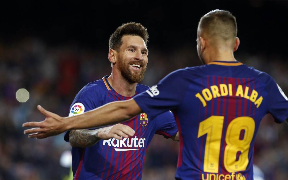 FC Barcelona – RCD Espanyol: Messi lidera un gran festival (5-0)