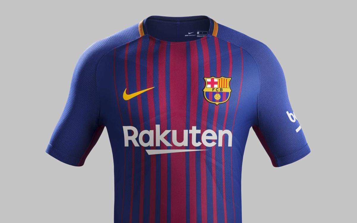 The new FC Barcelona kit for the 2017/18 season