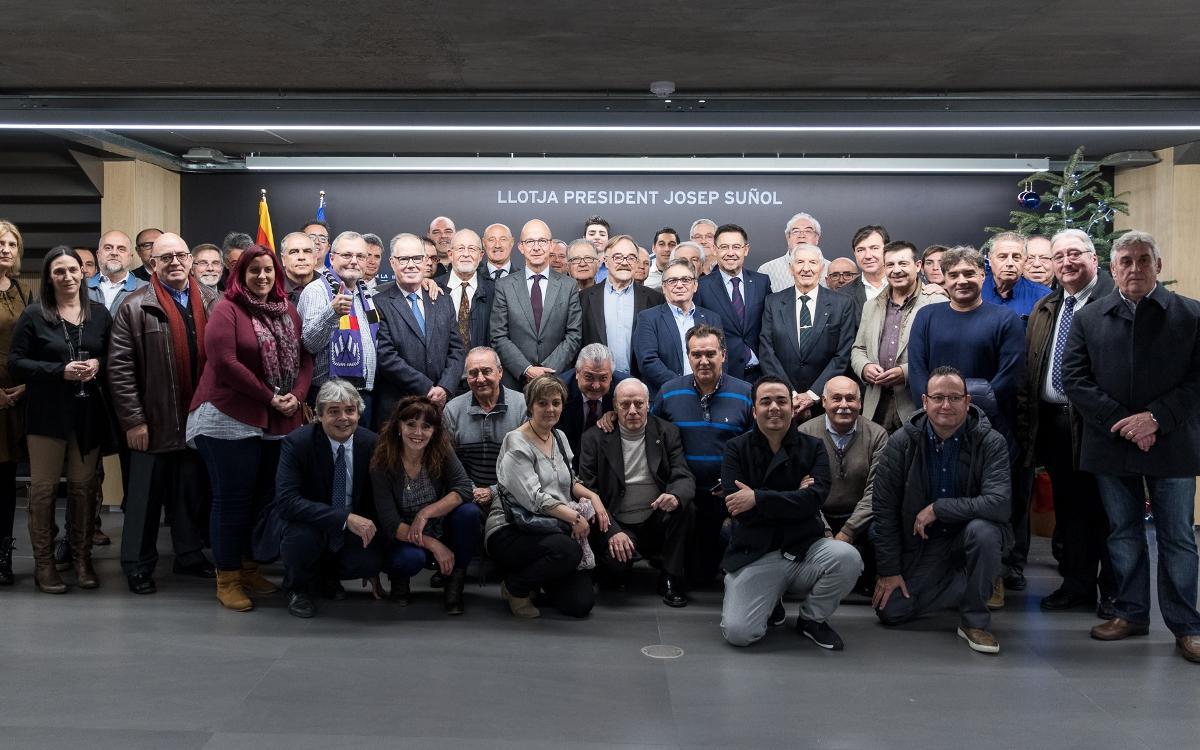Recepción institucional con la Agrupación de Peñas de Fútbol