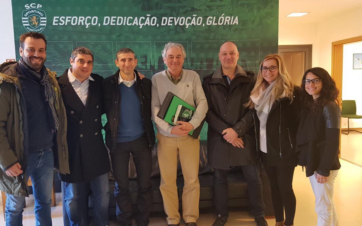 Una delegación de Masía 360 visita los centros de formación del Benfica y Sporting CP