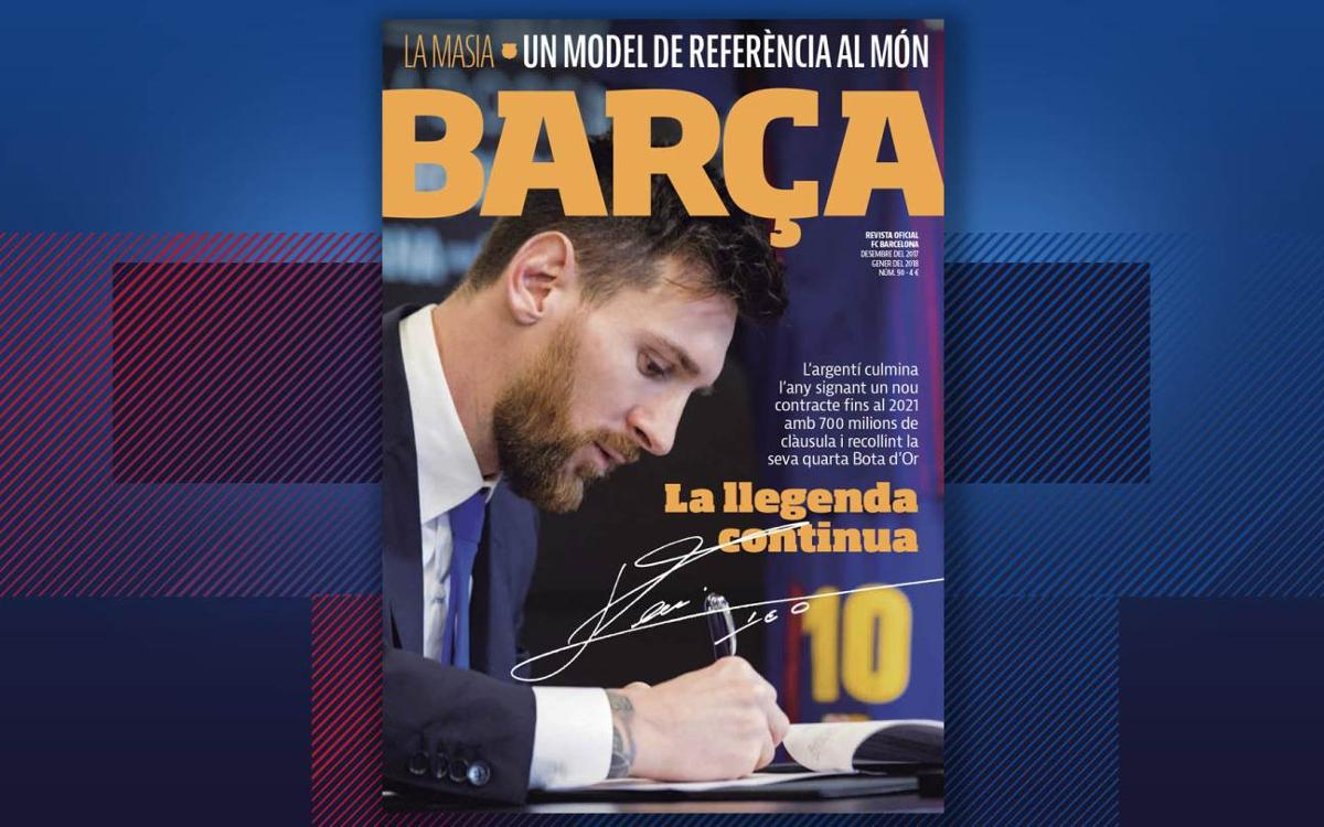 Lionel Messi, protagonista de l'últim número de la REVISTA BARÇA