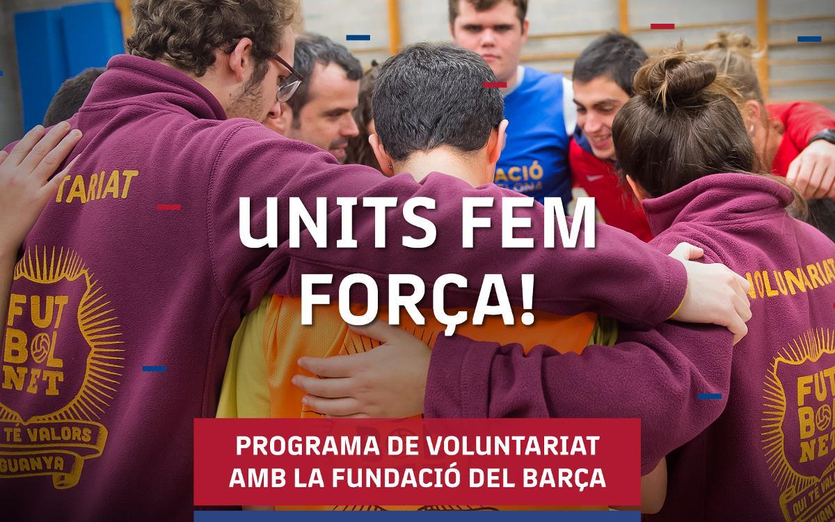 Programa de voluntariat per col·laborar amb els projectes de la Fundació Barça