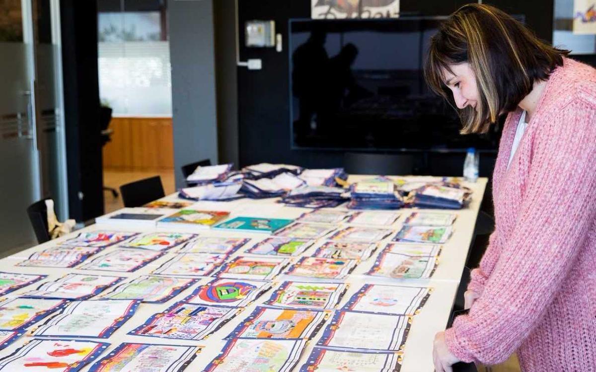 1.250 dibuixos participen a la XIII Mostra de Nadales Blaugrana
