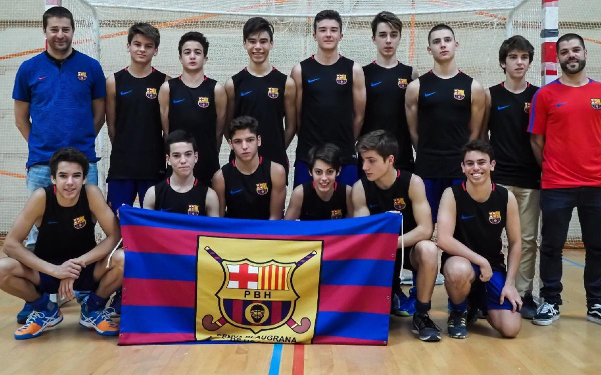 El Barça, campeón de la categoría cadete de hockey sala