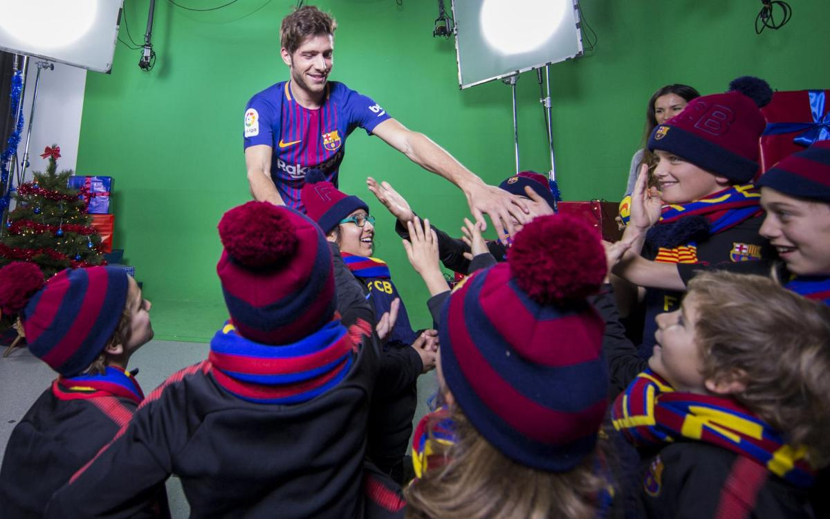 A Christmas surprise from Sergi Roberto
