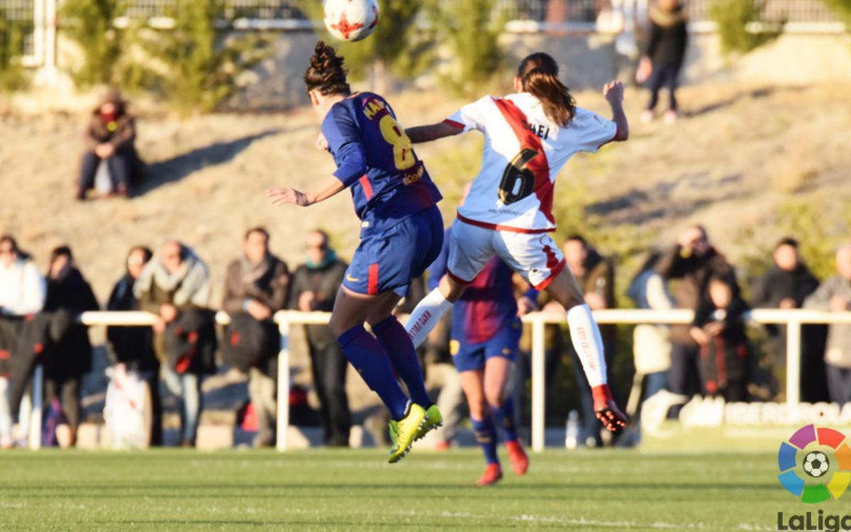 Rayo Vallecano - FC Barcelona Femenino: Líderes para acabar el año (1-2)