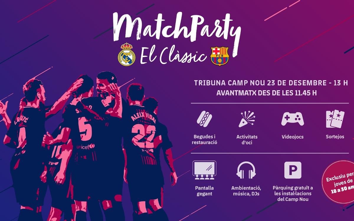 Vive el Clásico en la Match Party del Camp Nou