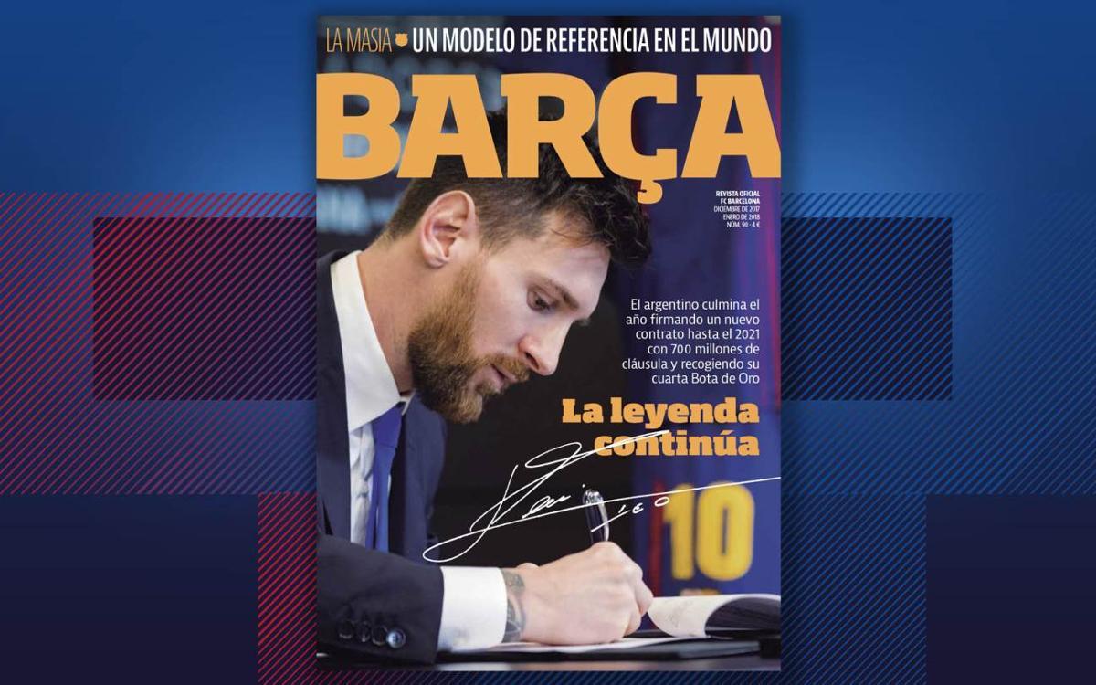 Lionel Messi, protagonista del último número de la REVISTA BARÇA