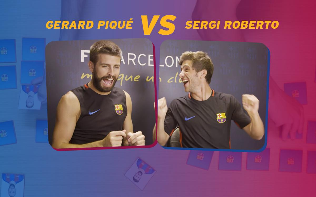 Barça Memory: Gerard Piqué and Sergi Roberto take the challenge