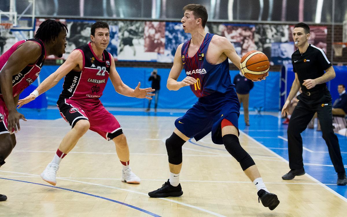 Barça Lassa B – CBC Valladolid: Cauen amb orgull (75-84)