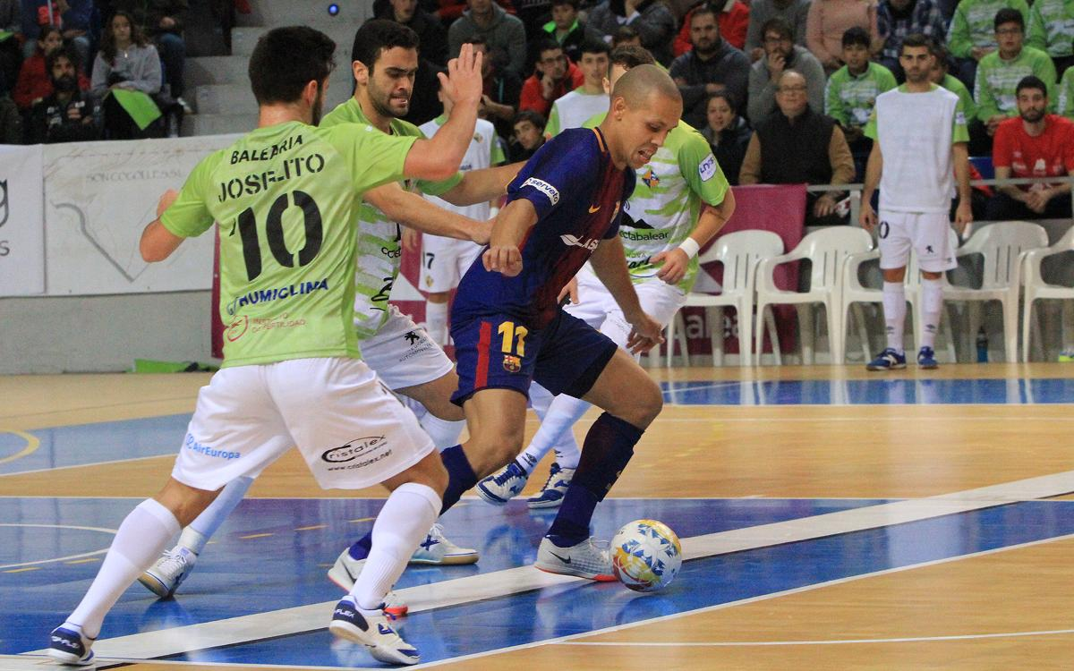 Palma Futsal - FC Barcelona Lassa: Empate eléctrico en Son Moix (4-4)