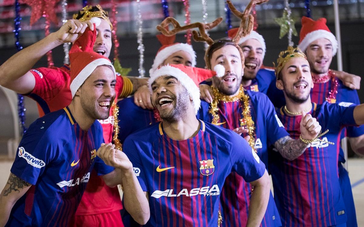 El villancico del Barça Lassa de fútbol sala
