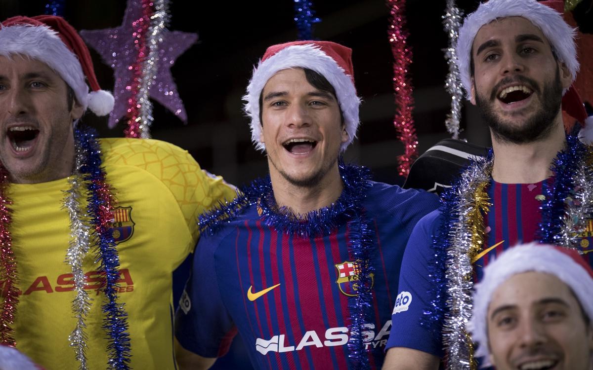 El Barça Lassa desitja Bon Nadal amb una original nadala