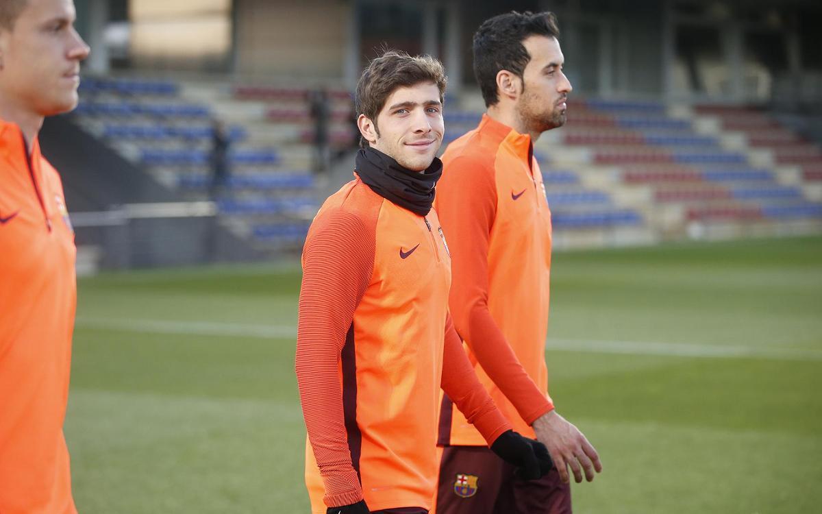 """Sergi Roberto: """"Aquests partits són bons per agafar ritme"""""""
