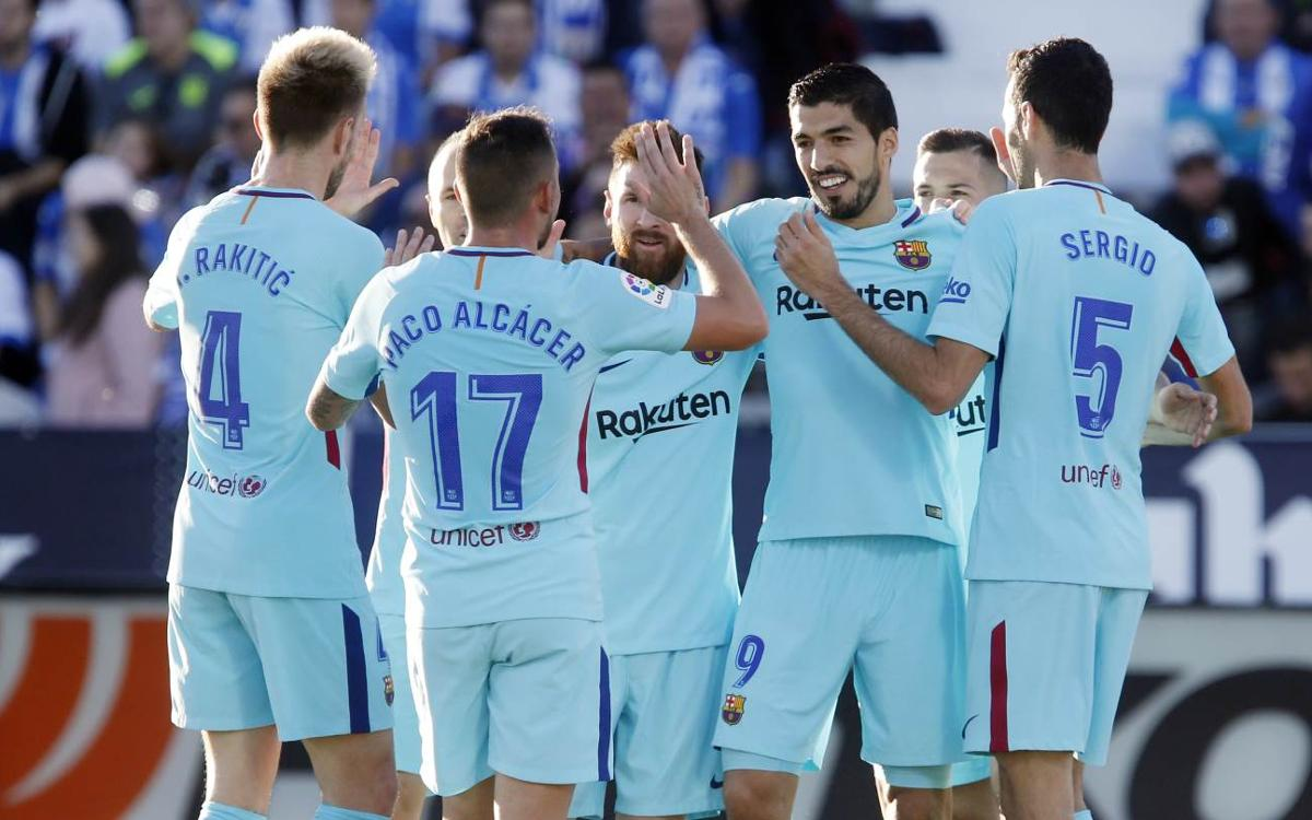 MATCH REPORT: Leganés 0-3 Barça: Super Suárez strikes twice