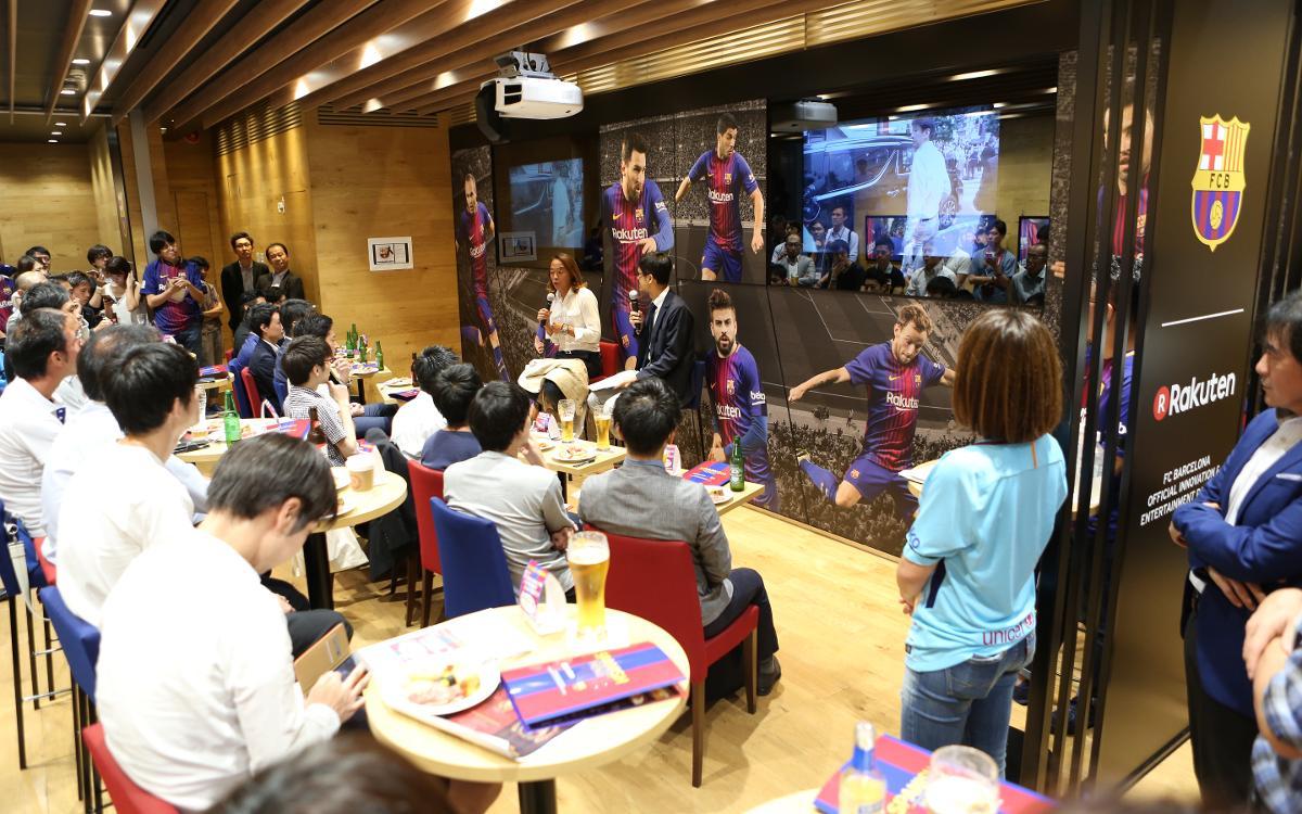 ビデオ:バルサの新たなホーム、Rakuten CAFÉ