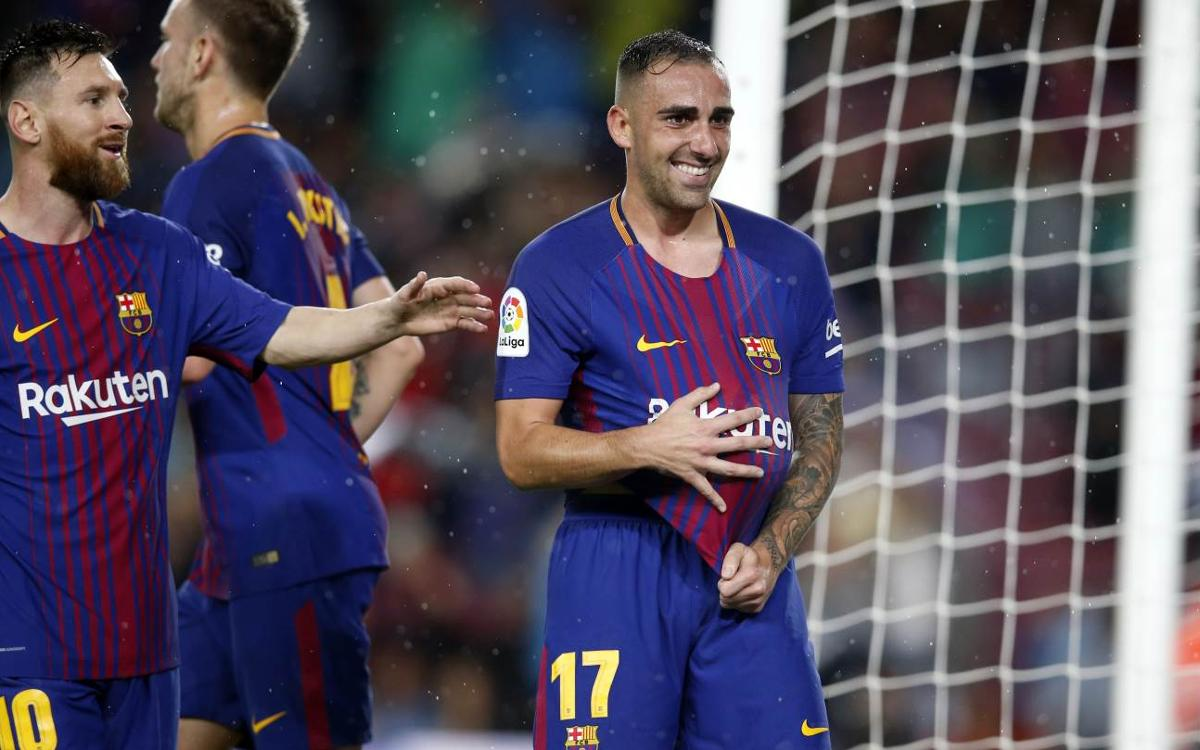 FC バルセロナ-セビージャ戦: アルカセル弾で首位キープ (2-1)