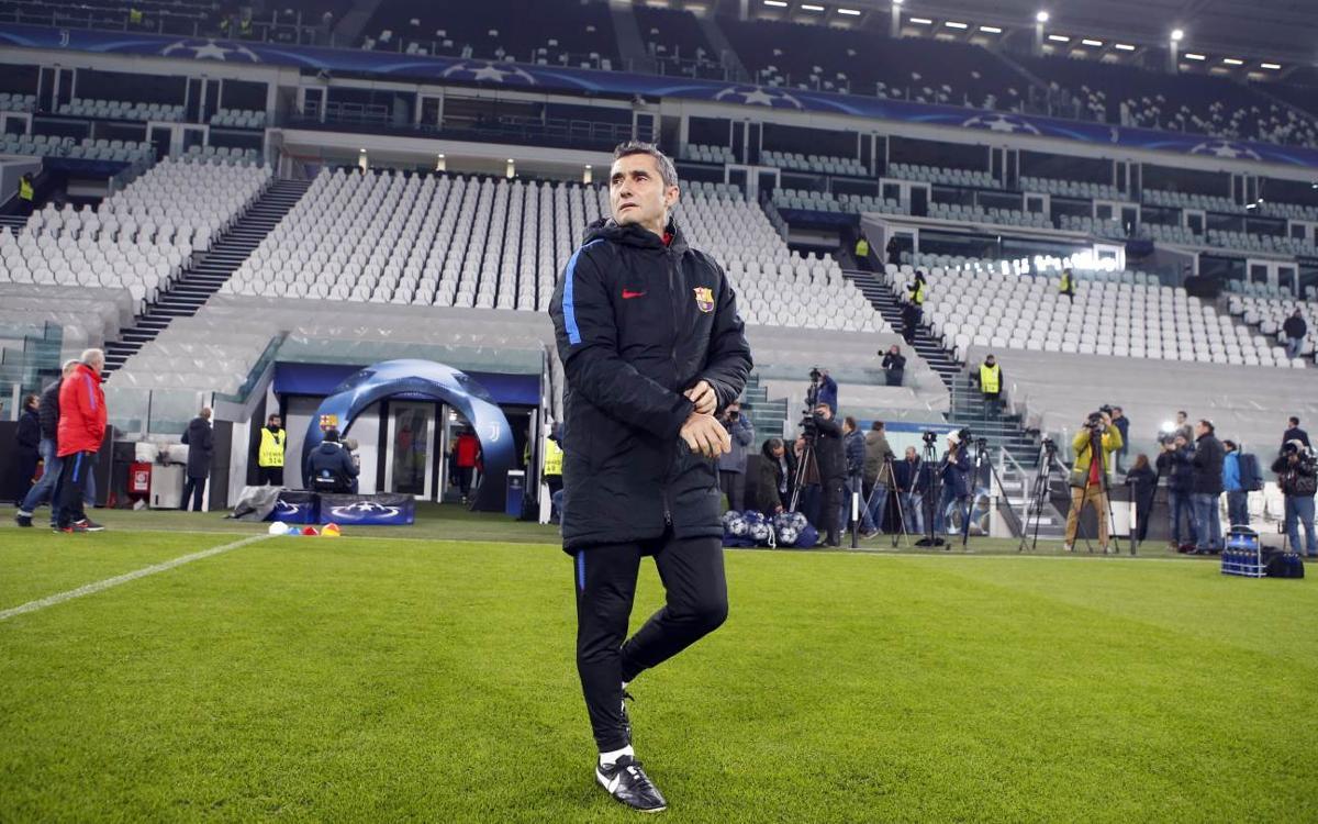 Ernesto Valverde espera la millor Juve