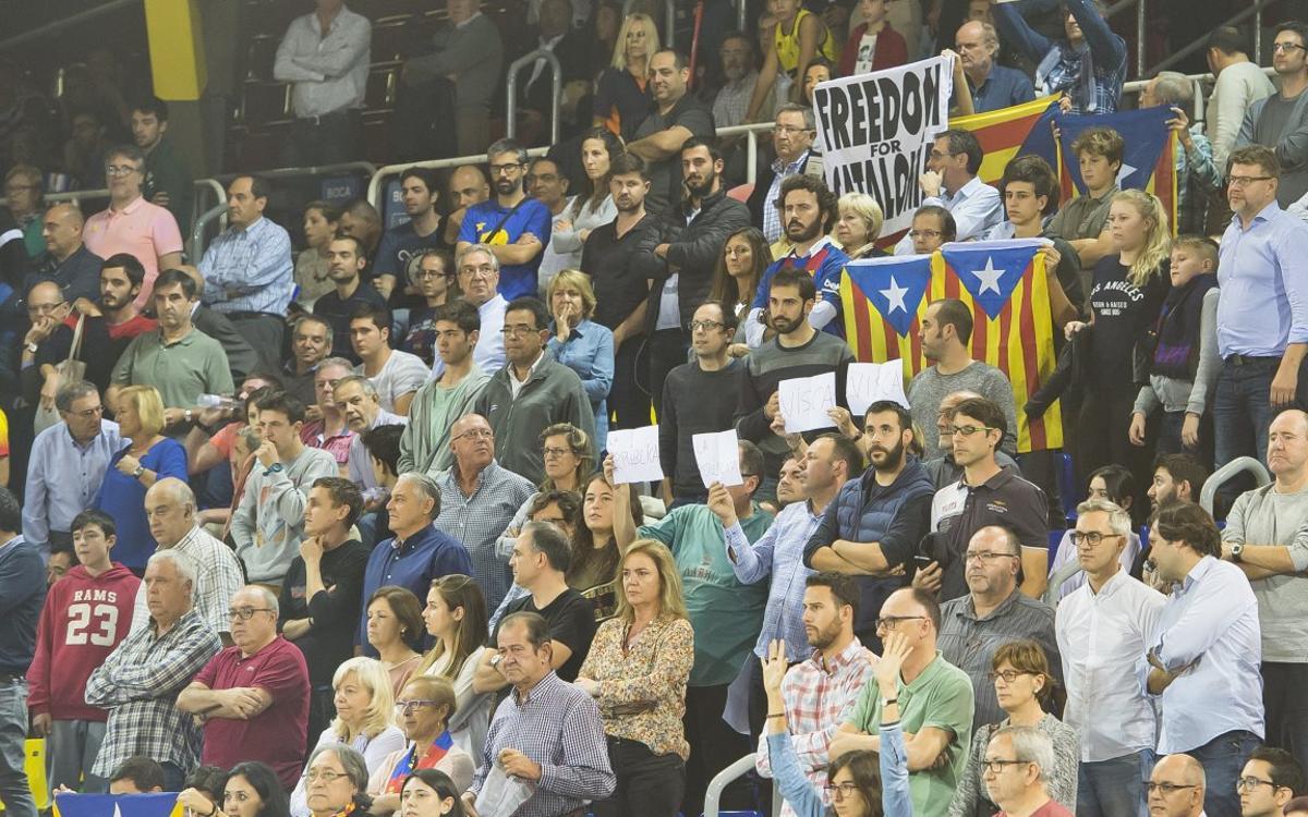 Noche de reivindicación en el Palau Blaugrana