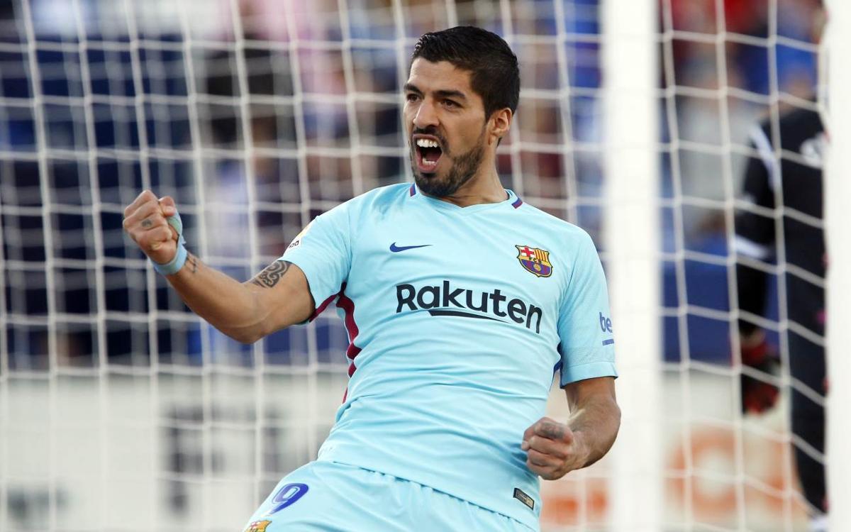 CD Leganés – FC Barcelona: Luis Suárez guia el líder (0-3)