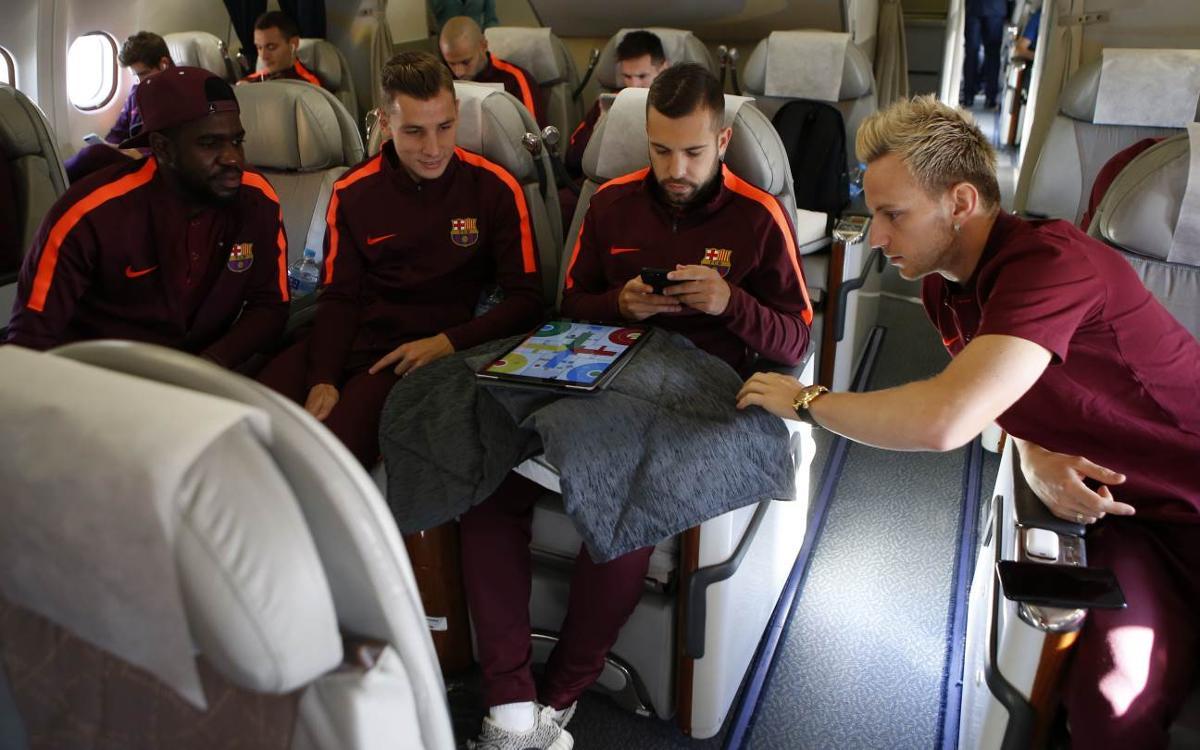 Barça arrive in Athens