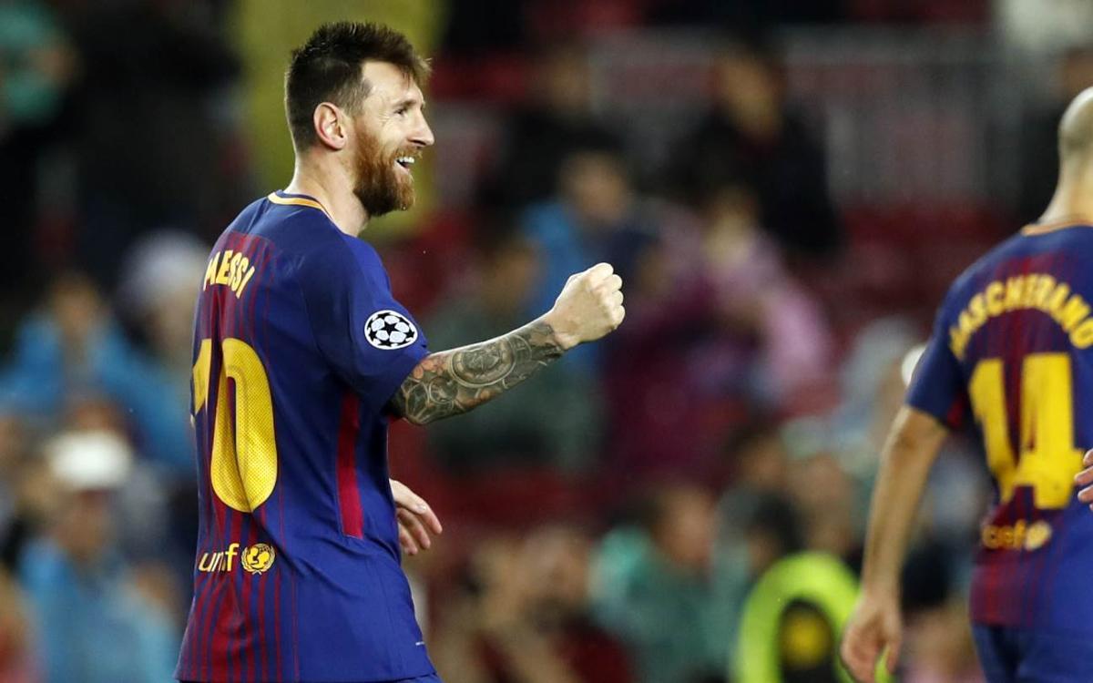 Leo Messi alcanza los 100 goles en competiciones europeas