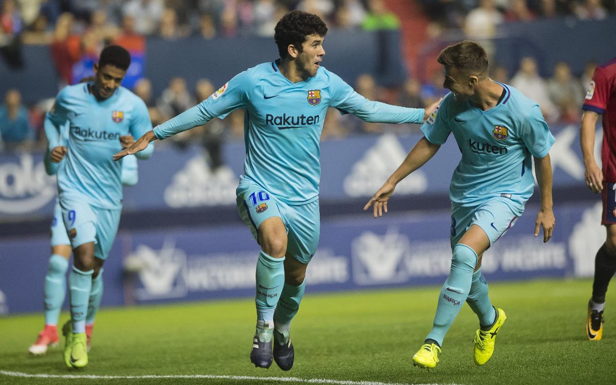 CA Osasuna - FC Barcelona B: A valuable point at the league leaders (2-2)