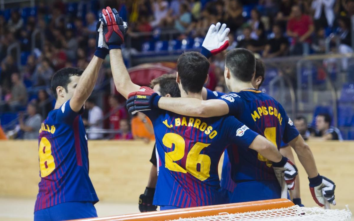 FC Barcelona Lassa- CH Palafrugell: Good win in home debut in the league (7-1)