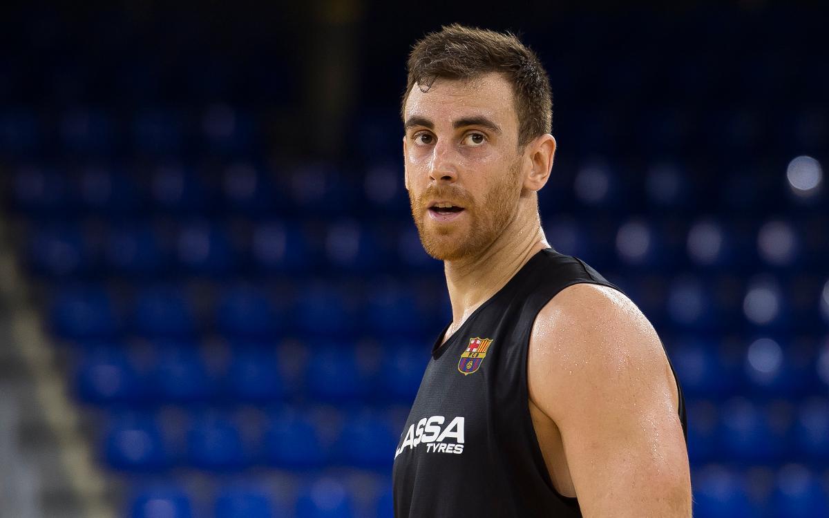 Víctor Claver torna als entrenaments després de cinc mesos de baixa
