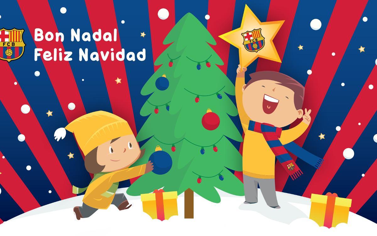 XIII Mostra de Nadales Blaugrana per a socis de 3 a 15 anys