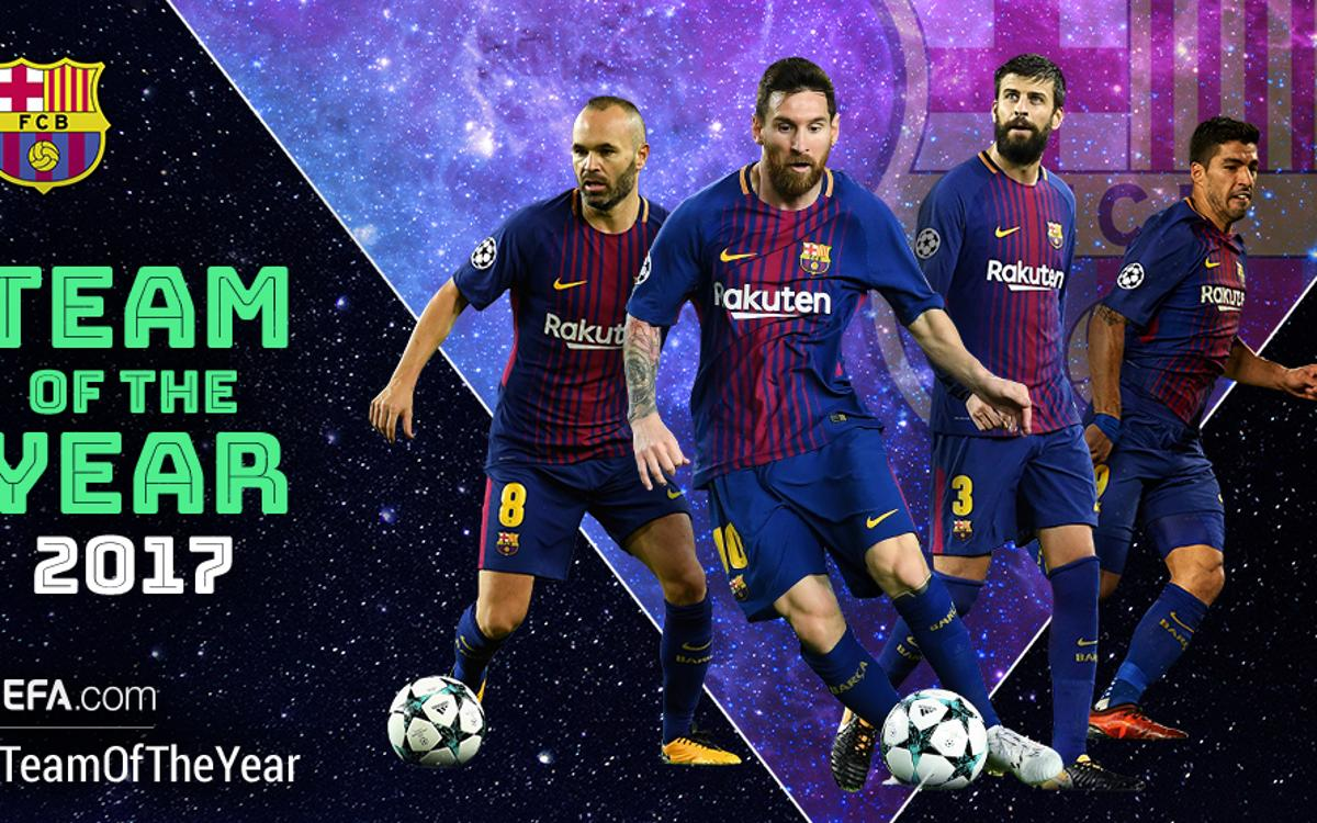 Four Barça players among candidates for UEFA team of the year