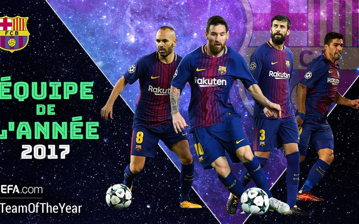 4 Blaugranas candidats au XI de l'Année de l'UEFA