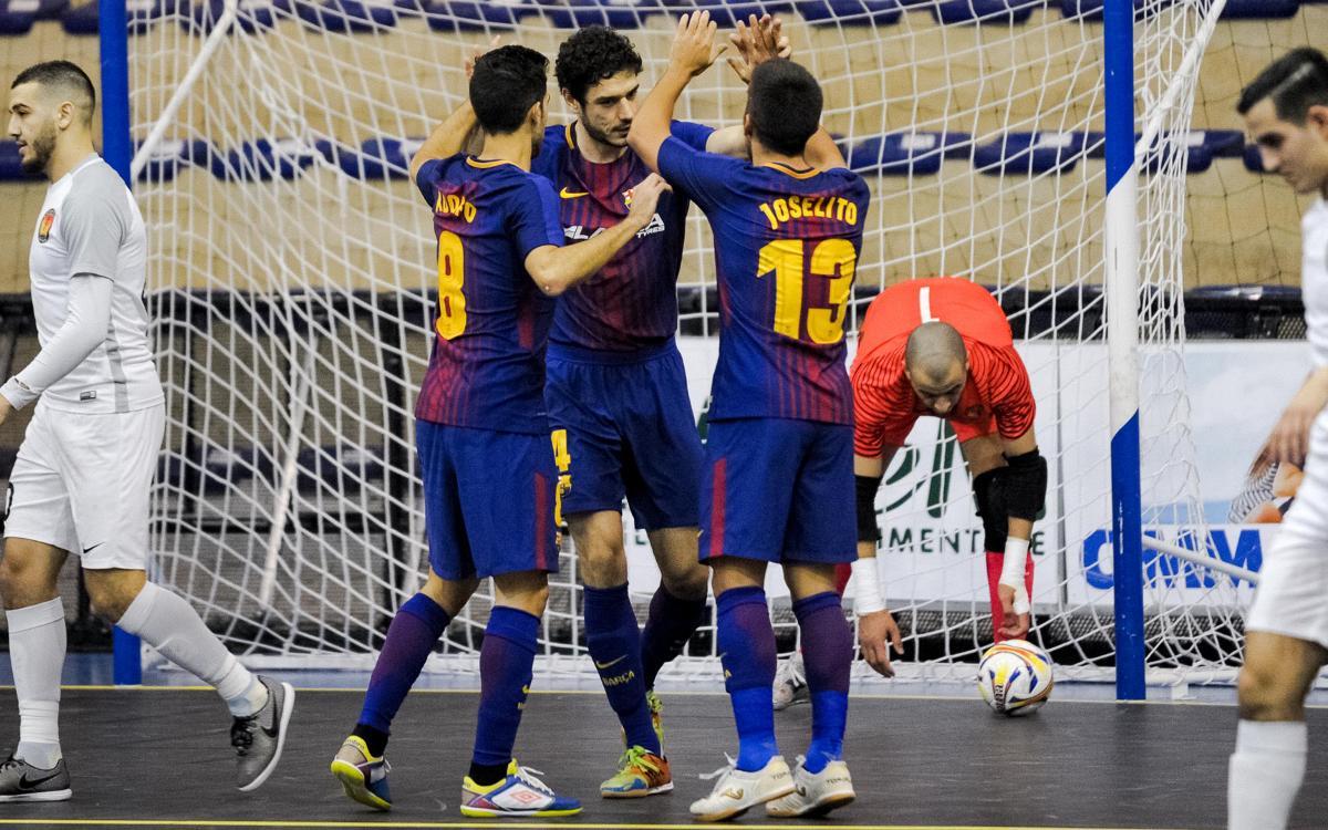 FC Barcelona routs Zvv 't Knooppunt 6-0 in Elite Round opener