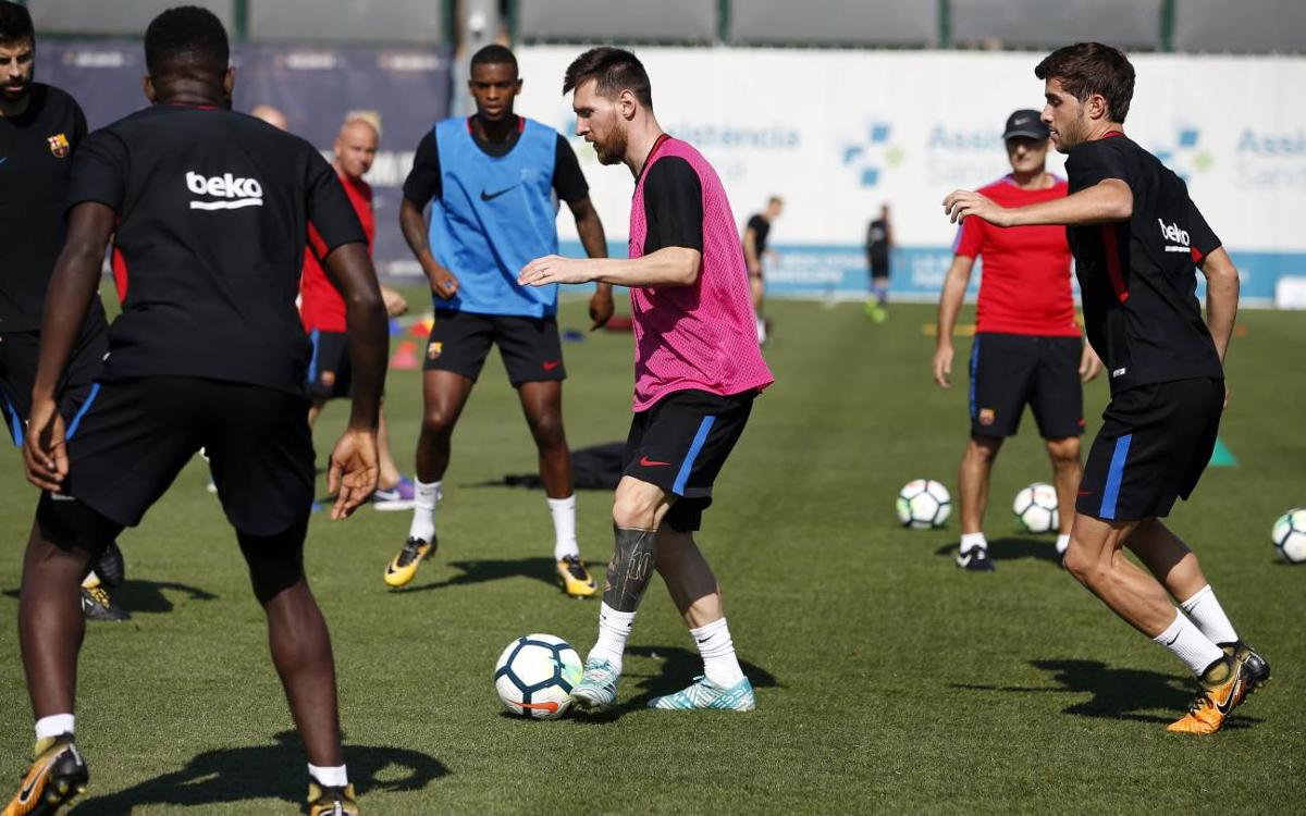 Training schedule following the international break
