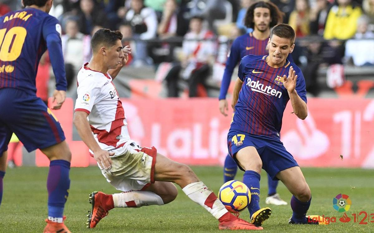 Rayo Vallecano - Barça B: Points lost in the second half (1-0)