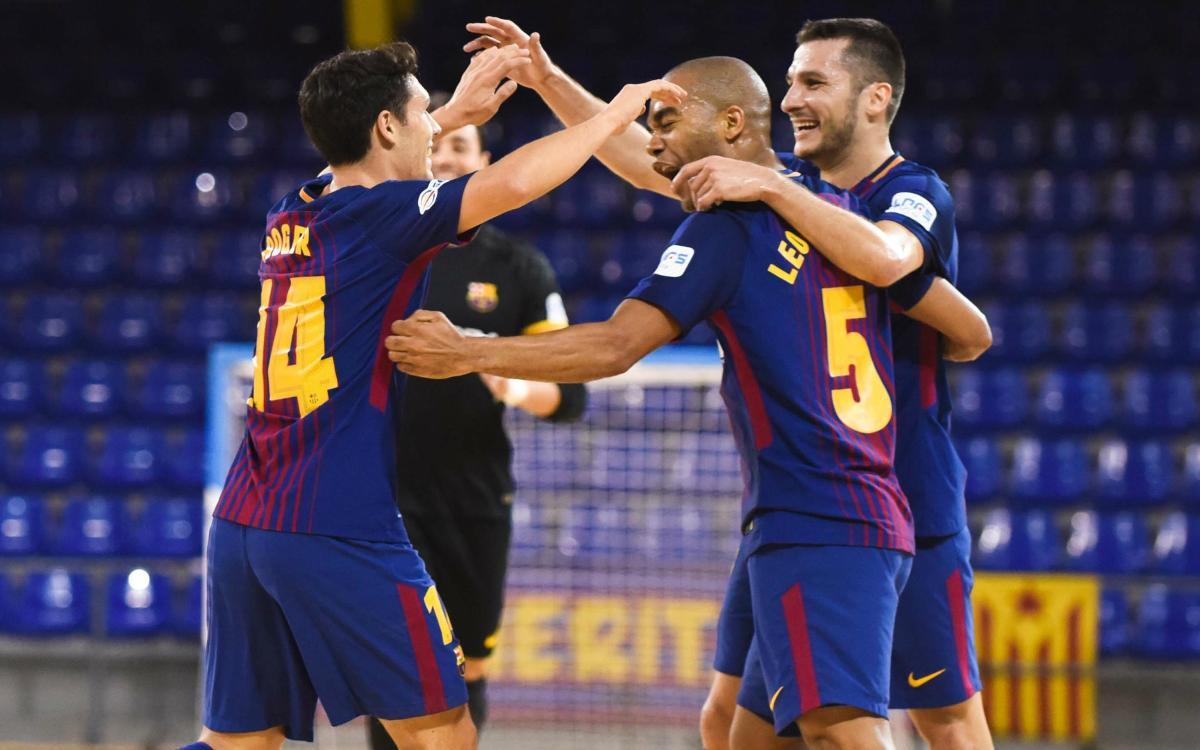 FC Barcelona Lassa - Cartagena FS: Triunfo serio y sudado (6-1)