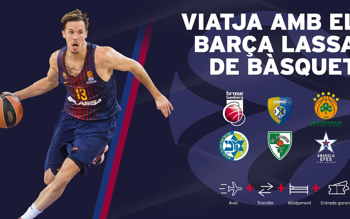 Acompanyem el Barça en els seus desplaçaments per Europa
