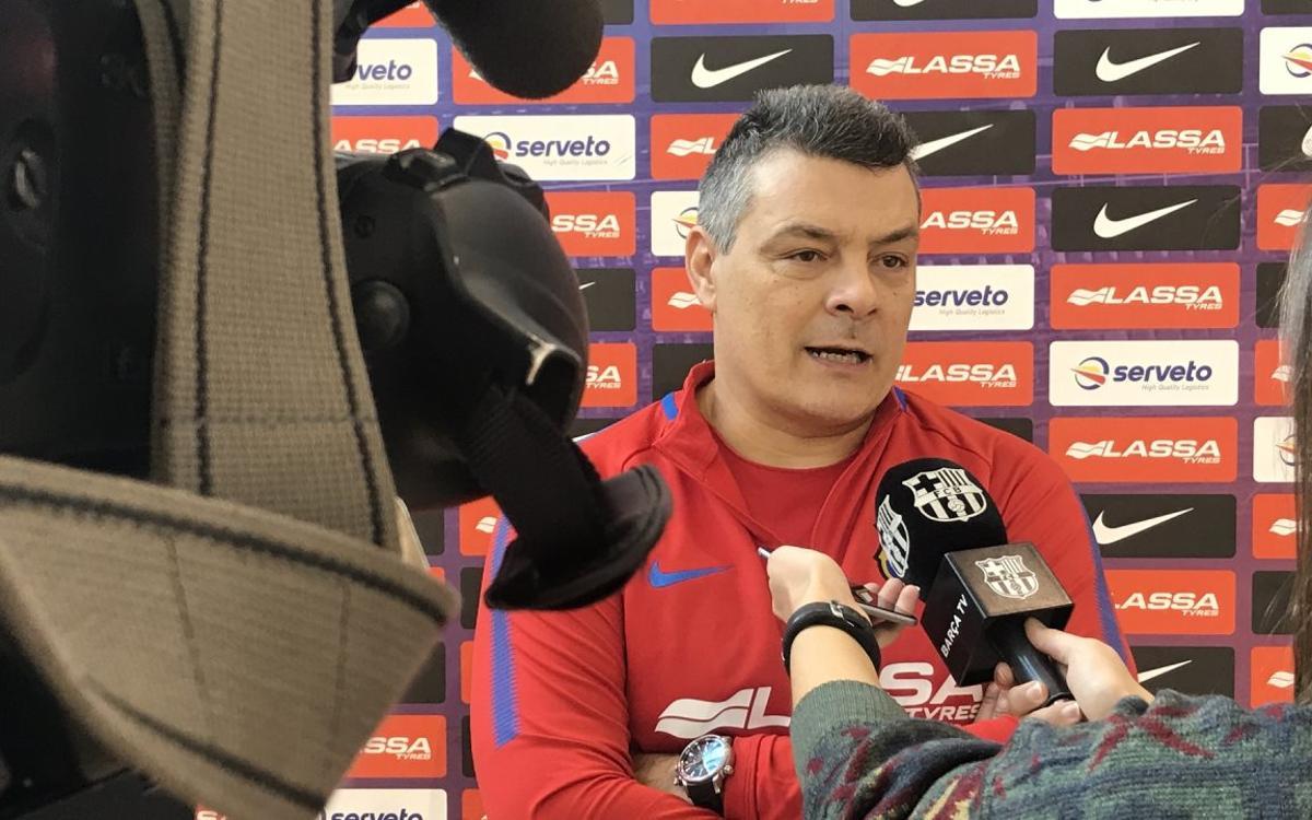 """Xavi Pascual: """"Jugamos contra uno de los grandes rivales"""""""
