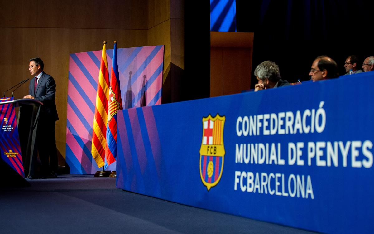 "Josep Maria Bartomeu: ""Before Barça won everything, the supporters clubs were already around"