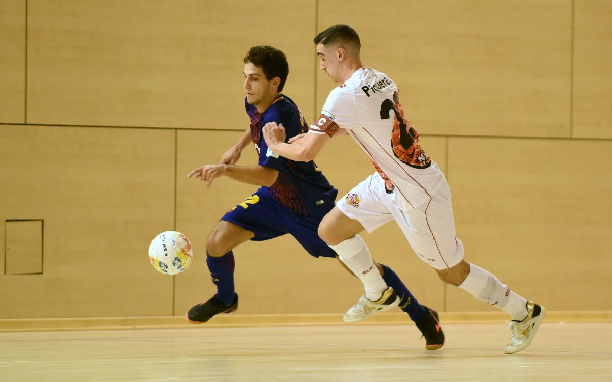 Barça Lassa B - ElPozo B (2-2): Empate en el último instante
